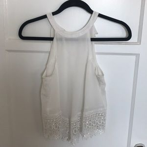 Urban Outfitters- White Top with Lace Design